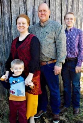 Building contractor, Brian Williams, and his family